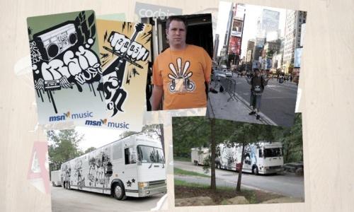Guerilla Campaign for MSN Music